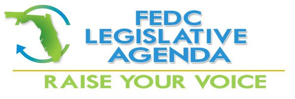 Graphic of FEDC legislative agenda logo.